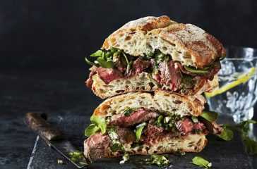 STEAK SANDWICH WITH CHIMICHURRI