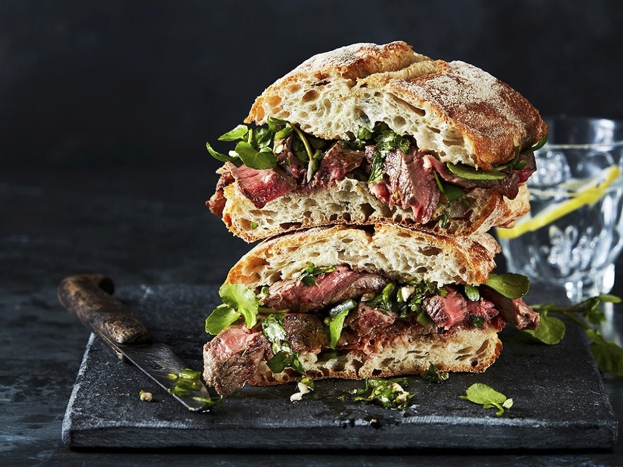 STEAK SANDWICH WITH CHIMICHURRI