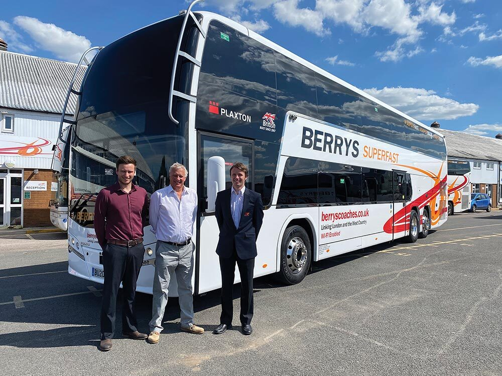 Return of the London Superfast service from the west country Berry's Coaches