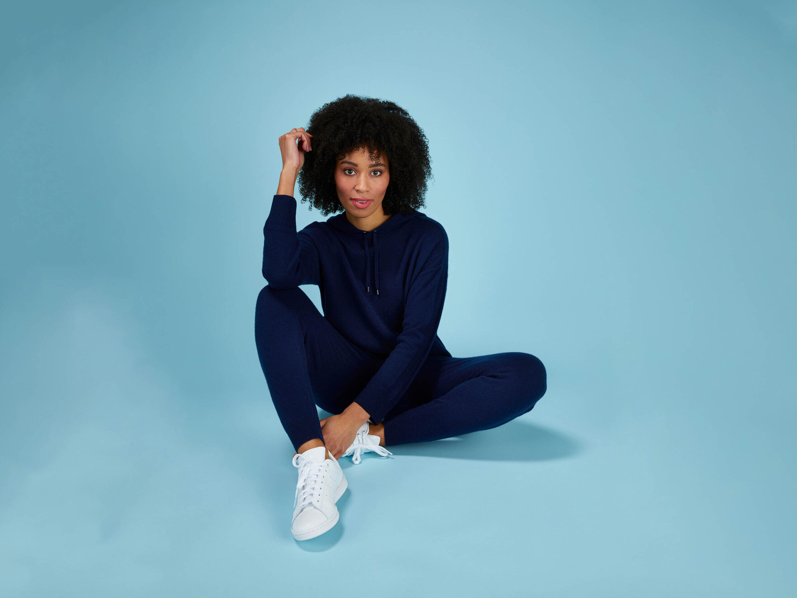 Cashmere Hoody and Jogger in Midnight