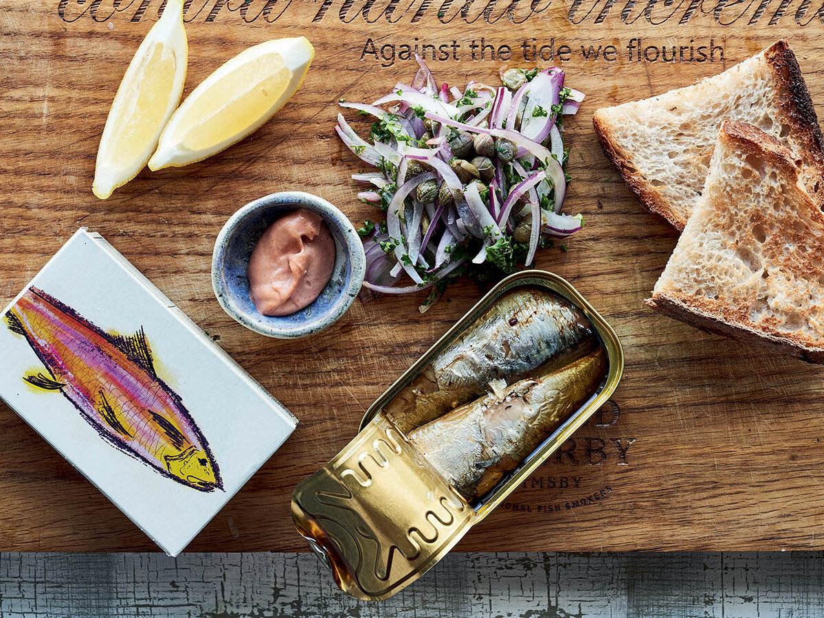 Canned sardines on toast