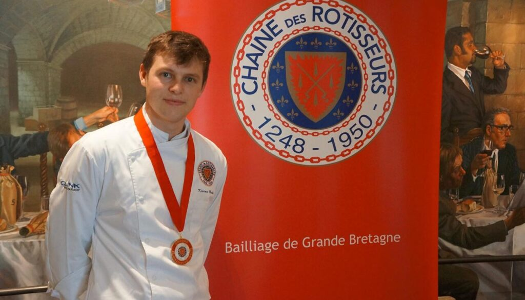 Young Chef of the year Kieran Bradley