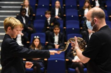 Students at King Edward VI School, Southampton, enjoy end of term extravaganza.