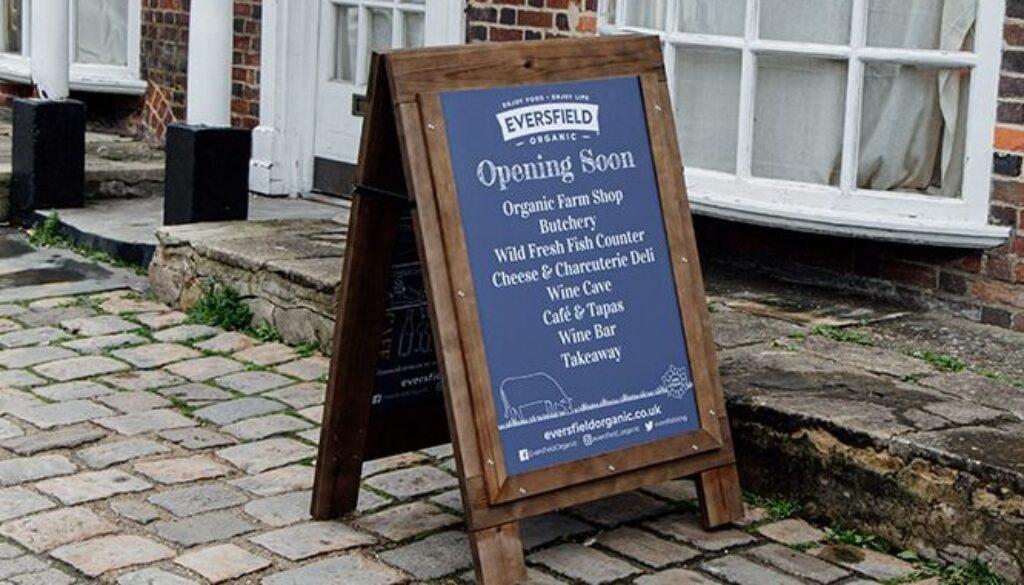 Eversfield Organic Farm Shop, Deli & Café, Marlborough