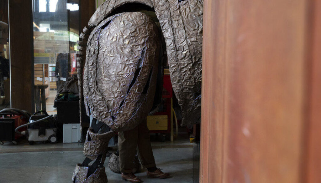 ELEPHANT ARRIVAL STRATFORD UPON AVON